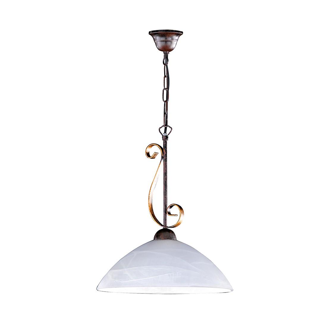 energie  A++, Hanglamp Lisa - roestkleurig antiek/goudkleurig, Honsel
