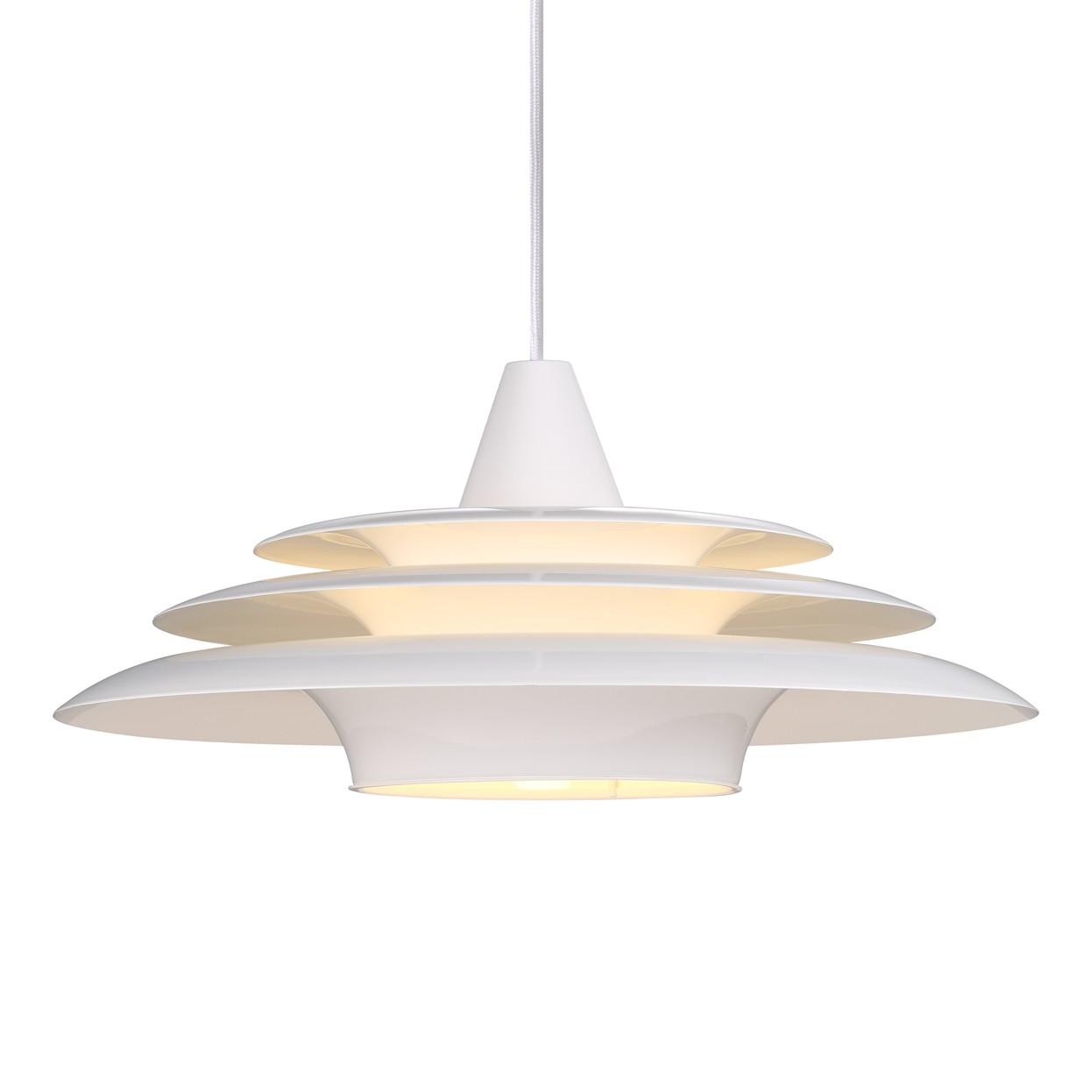 energie  A++, Hanglamp Saturn - wit metaal 1 lichtbroln, Nordlux