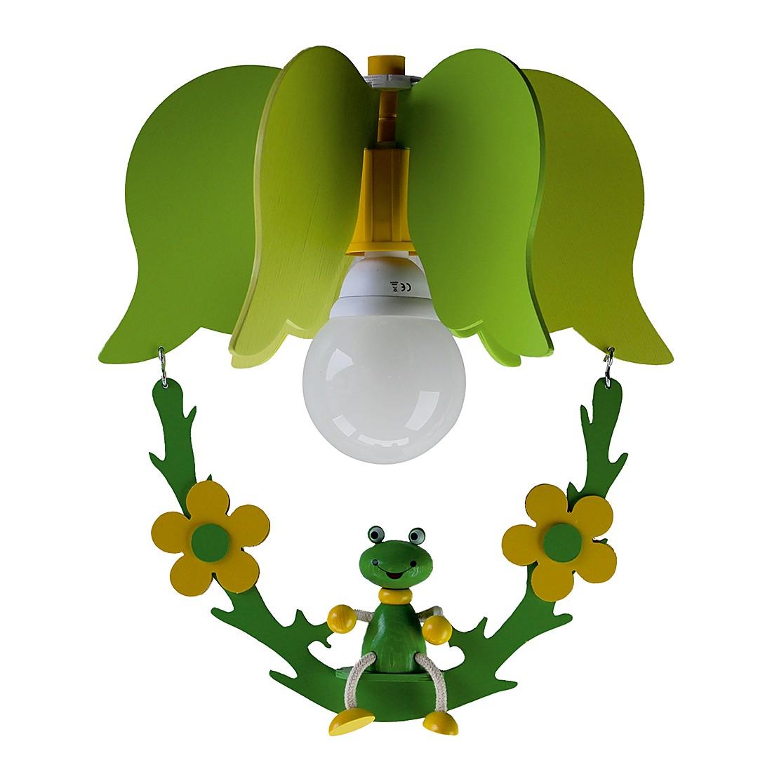 energie  A++, Hanglamp Schommel met kikker - hout 1 lichtbron, Elobra