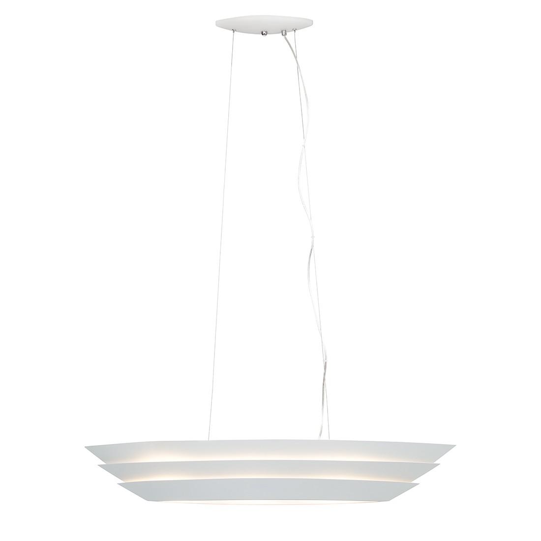 energie  A++, Hanglamp Ship - wit metaal 3 lichtbronnen, Brilliant