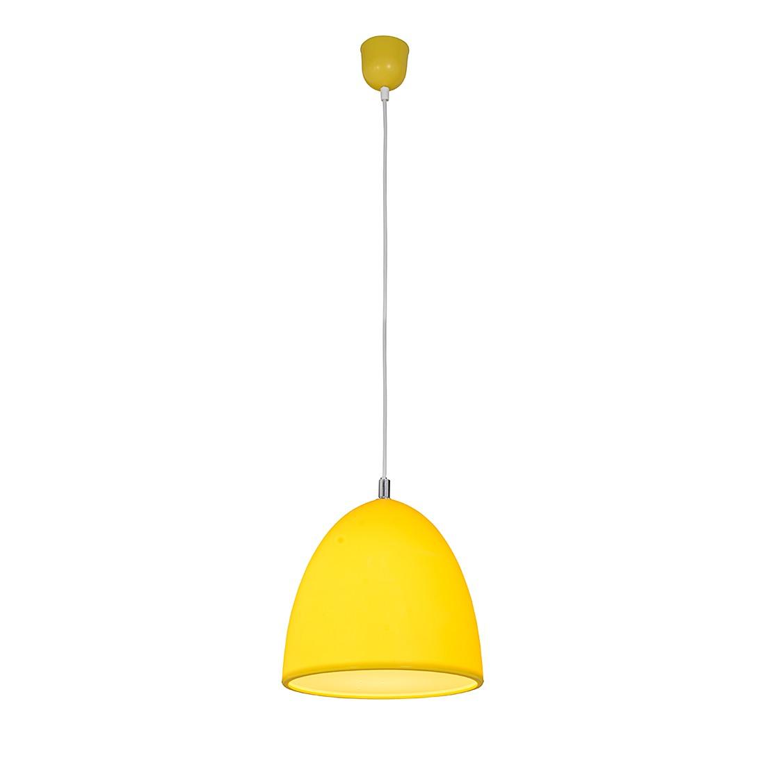 EEK A++, Pendelleuchte Tepsa - Silikon - 1-flammig - Gelb, Näve