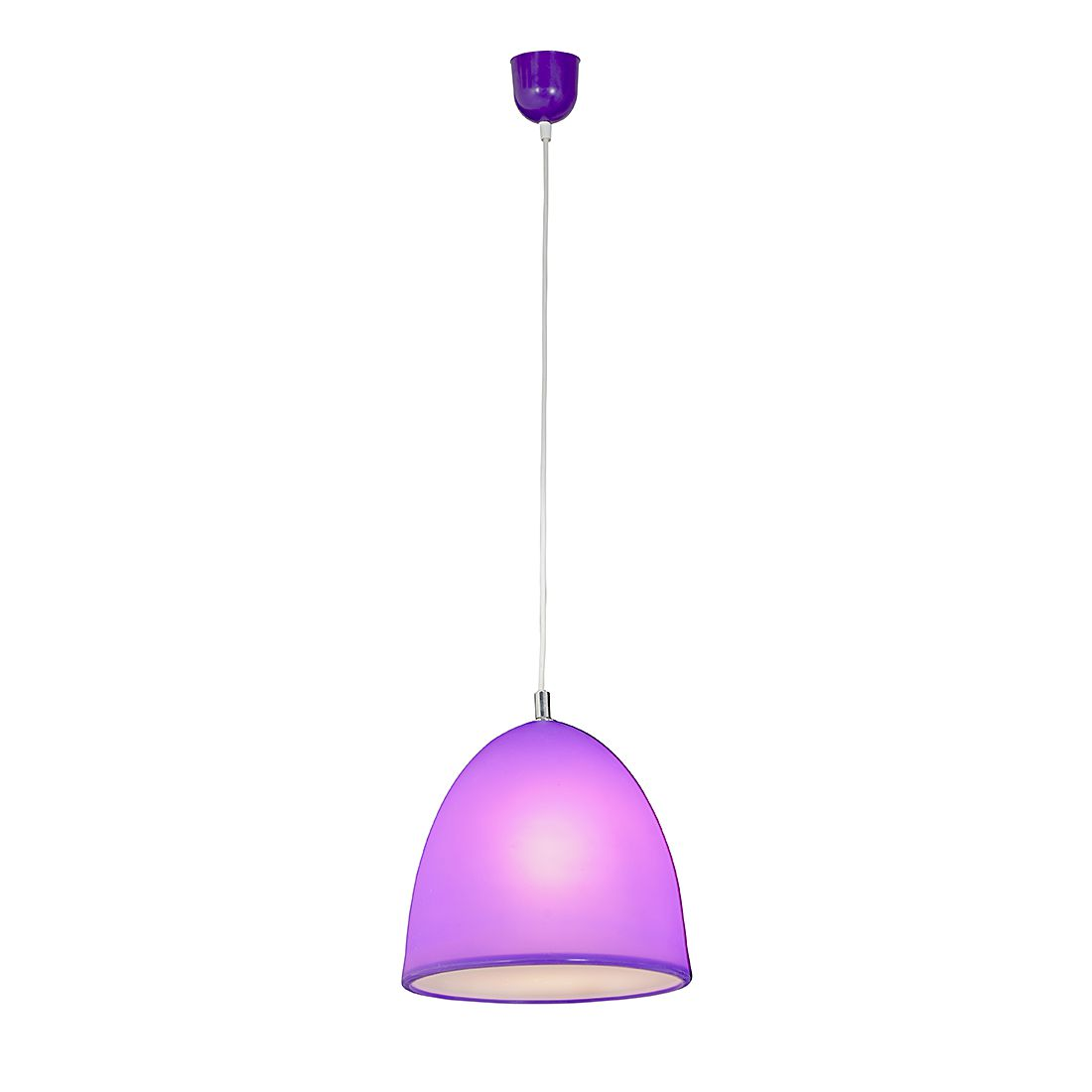 energie  A++, Hanglamp Tepsa - silicone - 1 lichtbron - Paars, Näve