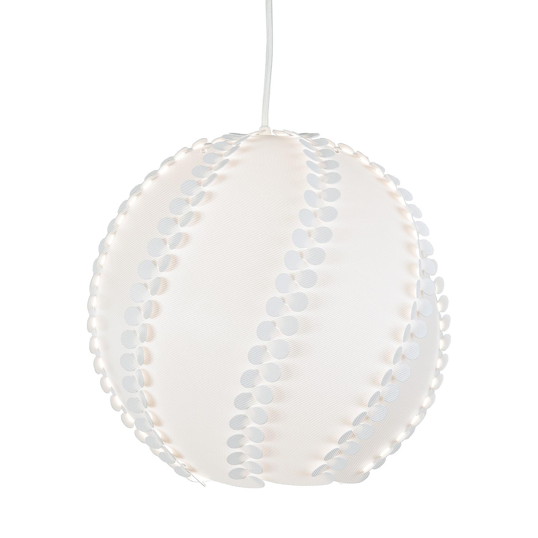 energie  A++, Hanglamp Snowy - Geweven Stof / Plastic - 1-lichtbron - 35, Nino Leuchten