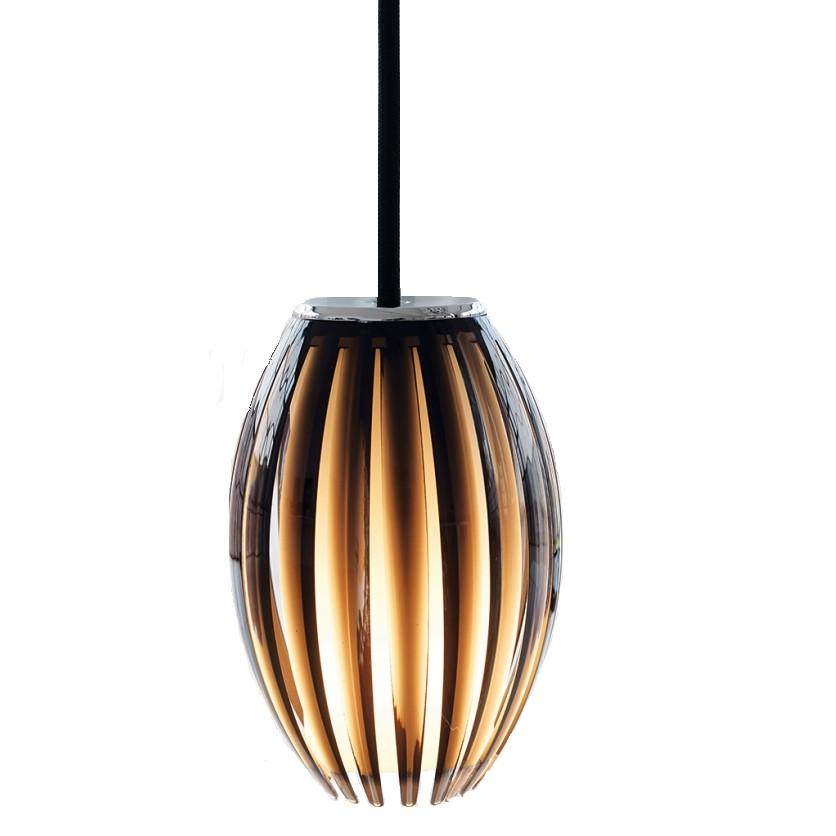 energie  A+, Hanglamp Tentacle - kunststof/zwart glas 1 lichtbron, Herstal