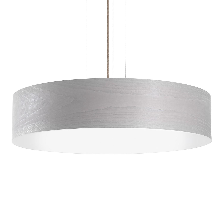 energie  A+, LED-hanglamp Veneli - 1 lichtbron - 70 - Essenhouten taupe, Elobra