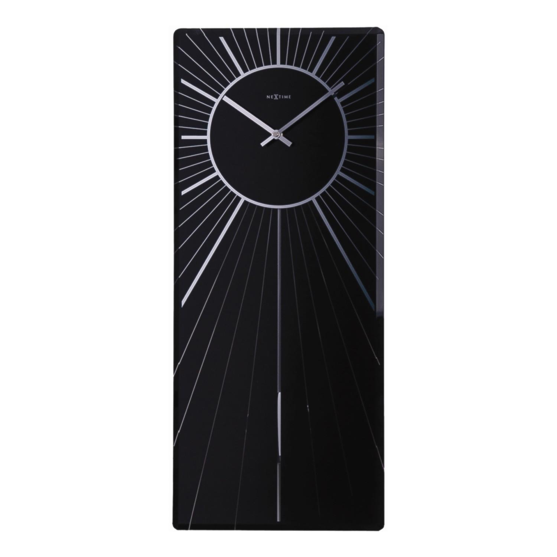 Pendelwanduhr Heavenly - Klarglas Schwarz