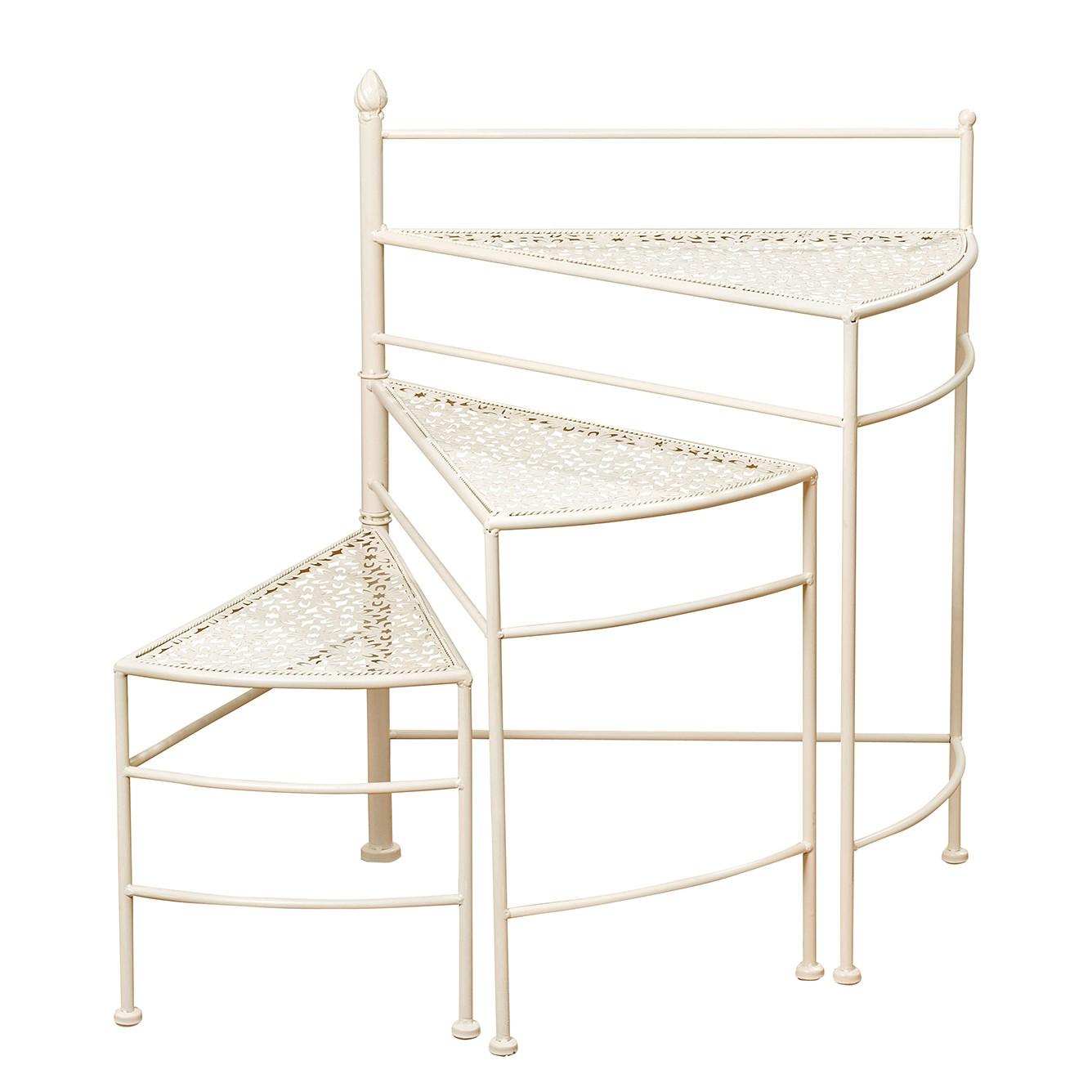 porte plantes estelle fer cr me maison belfort meubles en ligne. Black Bedroom Furniture Sets. Home Design Ideas