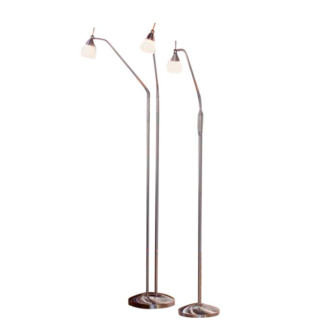 EEK B, Lampadaire Pino - Acier - 2 ampoules, Paul Neuhaus