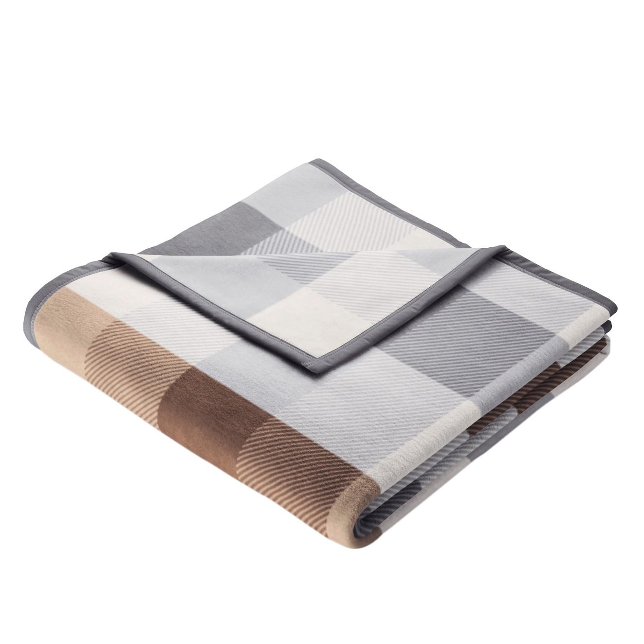 Plaid Art Abstracts - Webstoff Beige / Grau Sale Angebote Kröppen