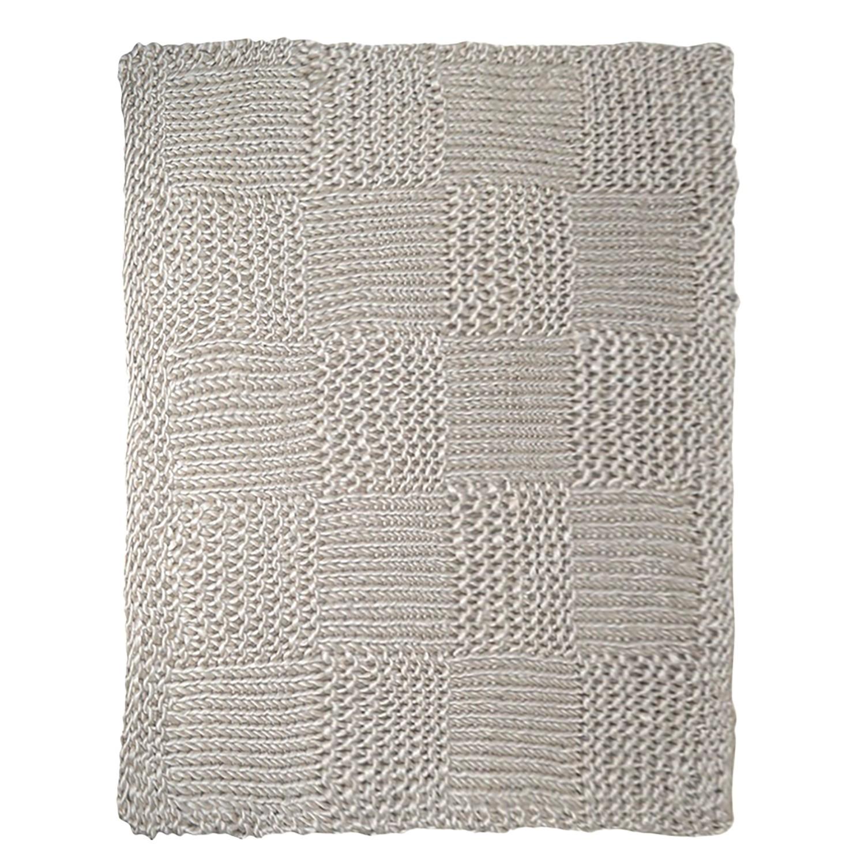 Plaid Karo - geweven stof - grijs, Maison Belfort