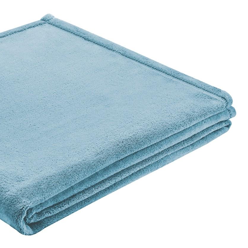 Plaid Soft Cover - Tissu - Bleu, Biederlack