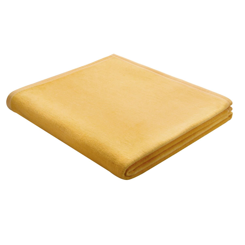 Plaid Squares Plains - Baumwollstoff - Gelb, Biederlack