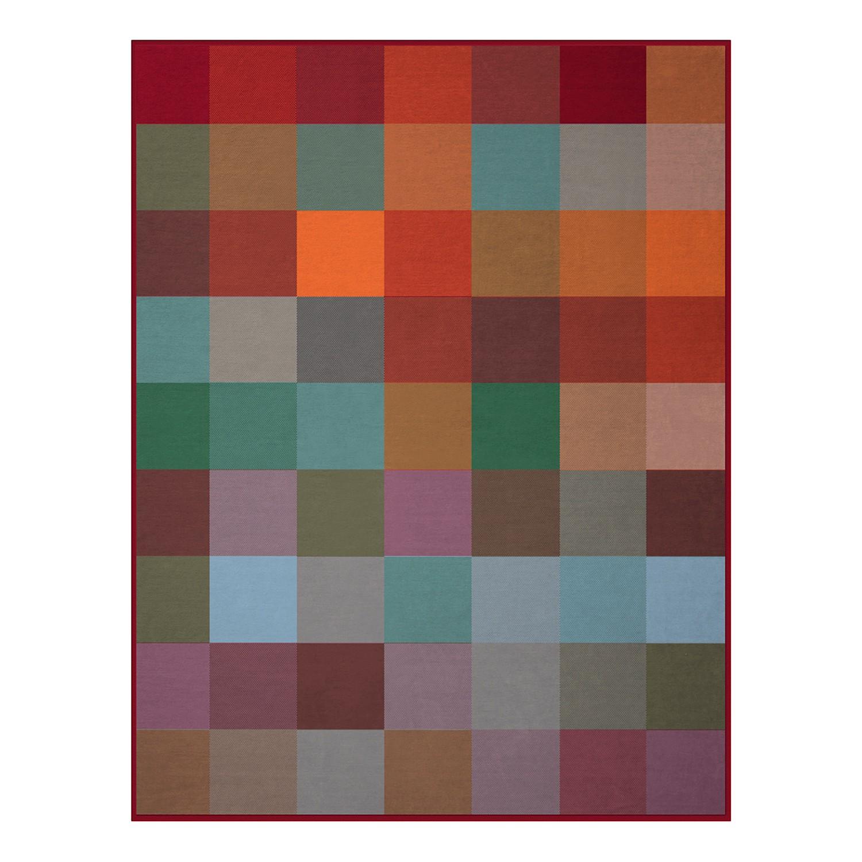 Plaid Squares Plains - Baumwollstoff - Rot / Grün, Biederlack