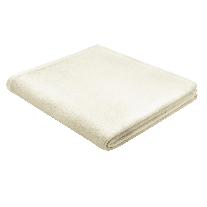 Plaid Squares Plains - Baumwollstoff - Weiß, Biederlack