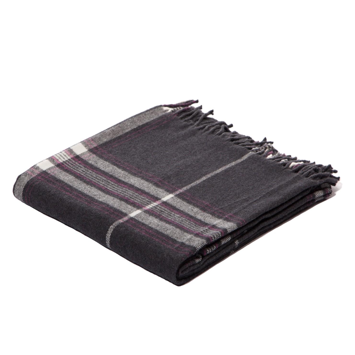 Ruhland Angebote Plaid Squares Plains - Webstoff Anthrazit / Grau