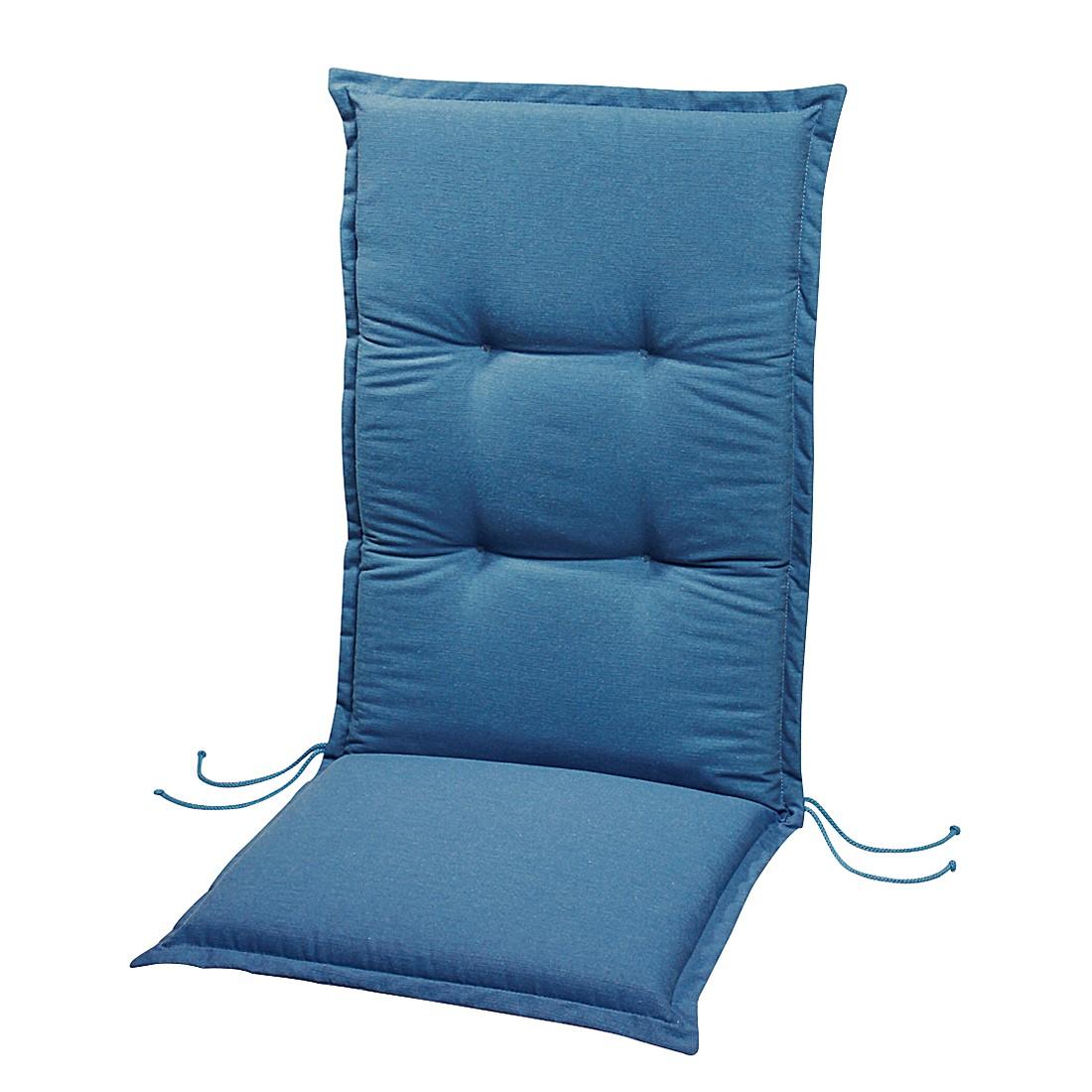 Polsterauflage Lorelai - Blau - Relax-Hochlehner - 175 x 50 cm, Best Freizeitmöbel