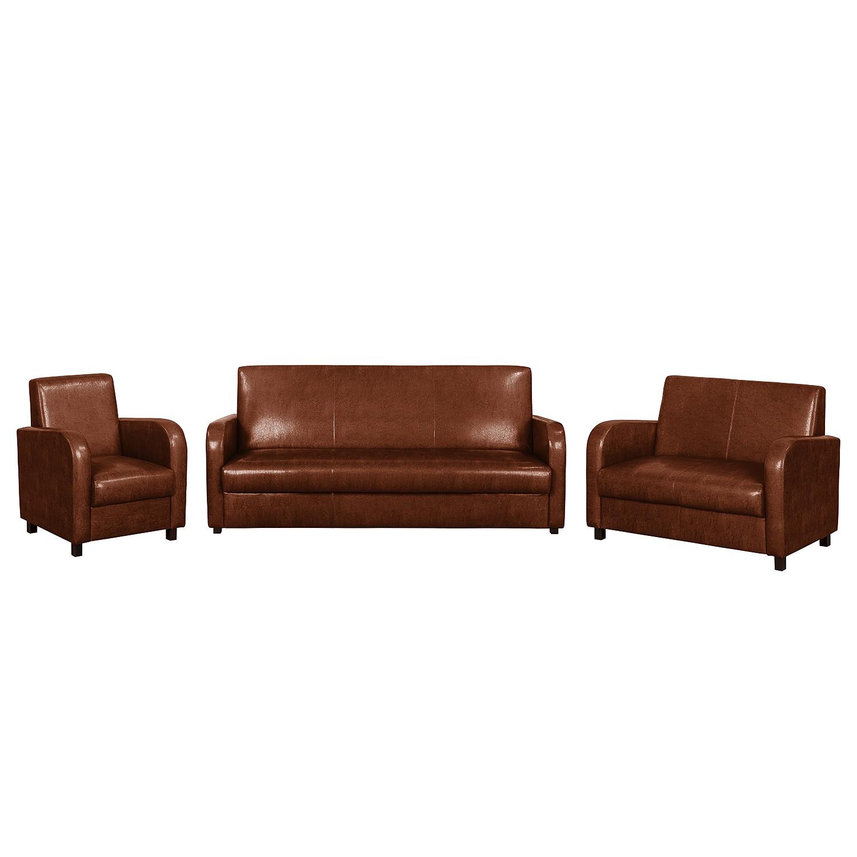 polstergarnitur cadeby 3 2 1 kunstleder mittelbraun fredriks kaufen. Black Bedroom Furniture Sets. Home Design Ideas