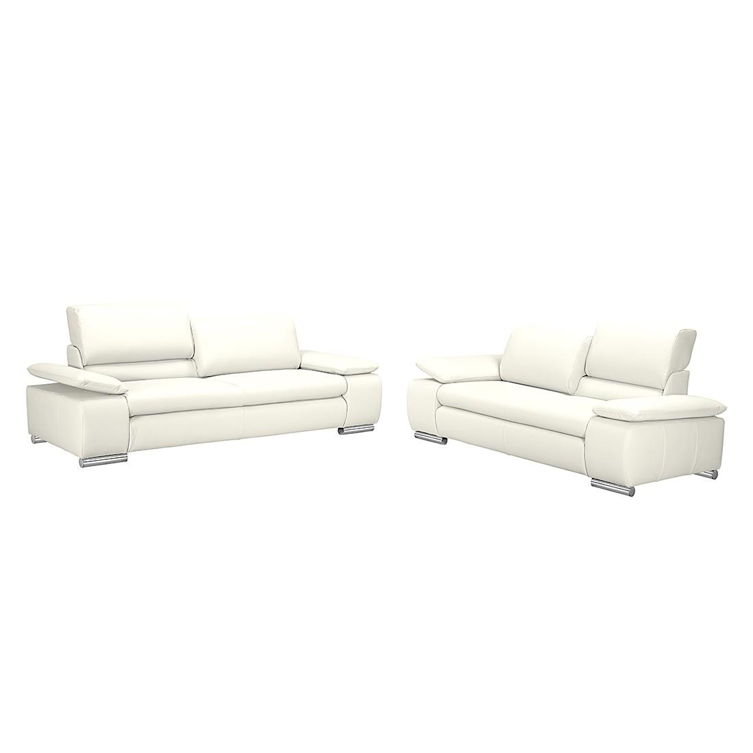 Canapé panoramique Masca (3 - 2) - Imitation cuir blanc, Fredriks