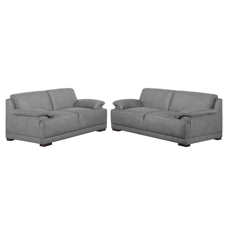 Meubelset Robö (3-2) - microvezel - Schuimstof - Grijs, Home Design