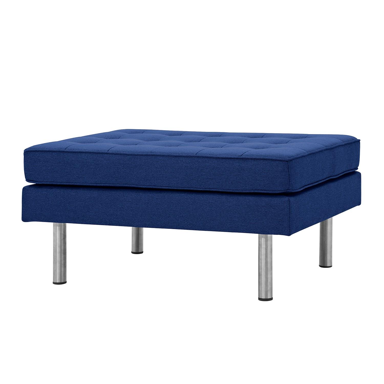 Home 24 - Pouf repose-pieds chelsea - tissu - sur - tissu ramira bleu, studio copenhagen