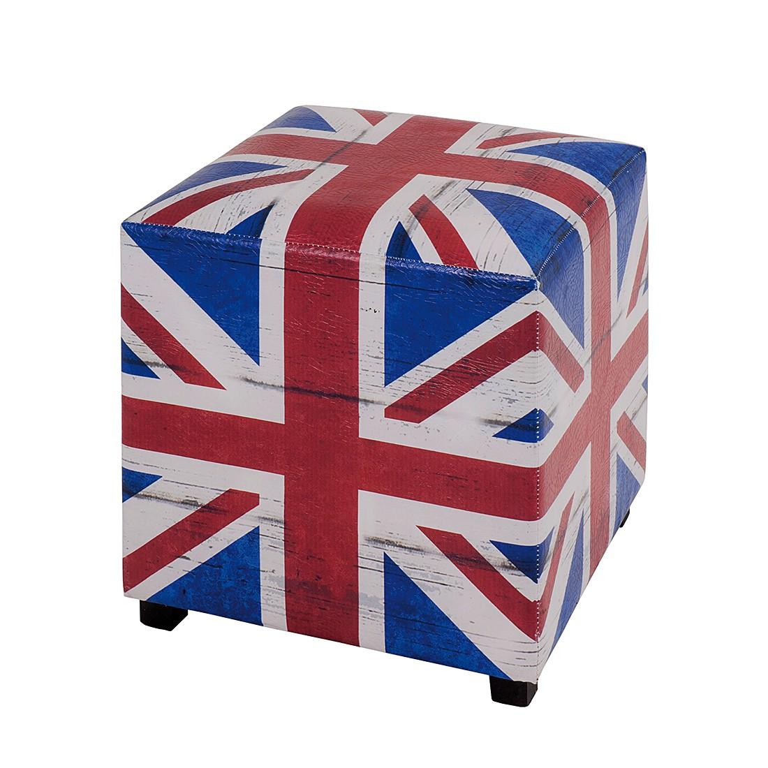Hocker Great Britain - blauw/rood/wit, Home Design