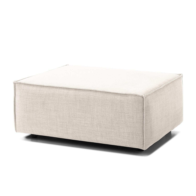 Home 24 - Pouf repose-pieds kinx - tissu - tissu milan blanc vieilli, kinx