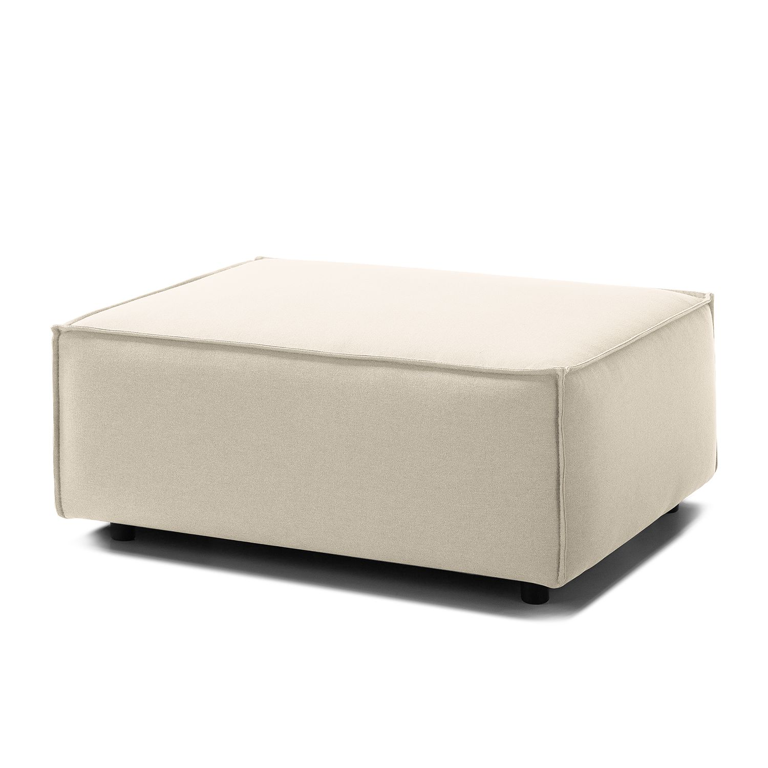 pouf repose pieds kinx tissu tissu osta blanc vieilli kinx par kinx chez home24 fr. Black Bedroom Furniture Sets. Home Design Ideas