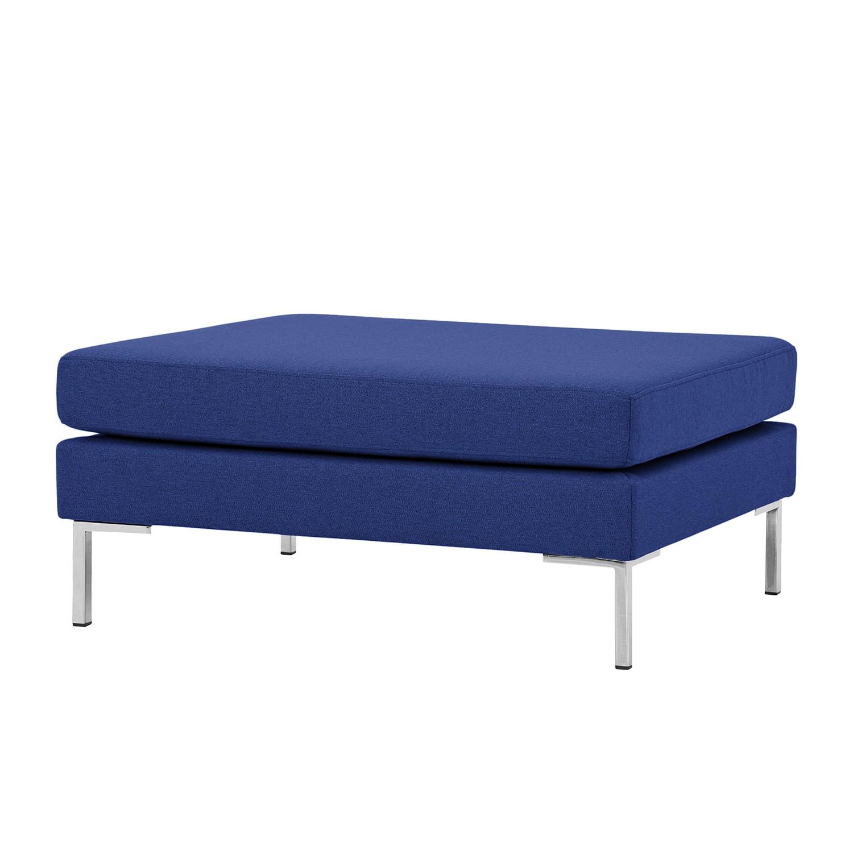 Home 24 - Pouf repose-pieds portobello - tissu - angulaire - tissu ramira bleu, studio copenhagen