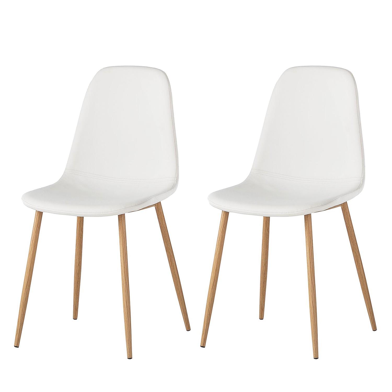 Gestoffeerde stoelen Iskmo (2-delige set) - kunstleer - Wit, Morteens