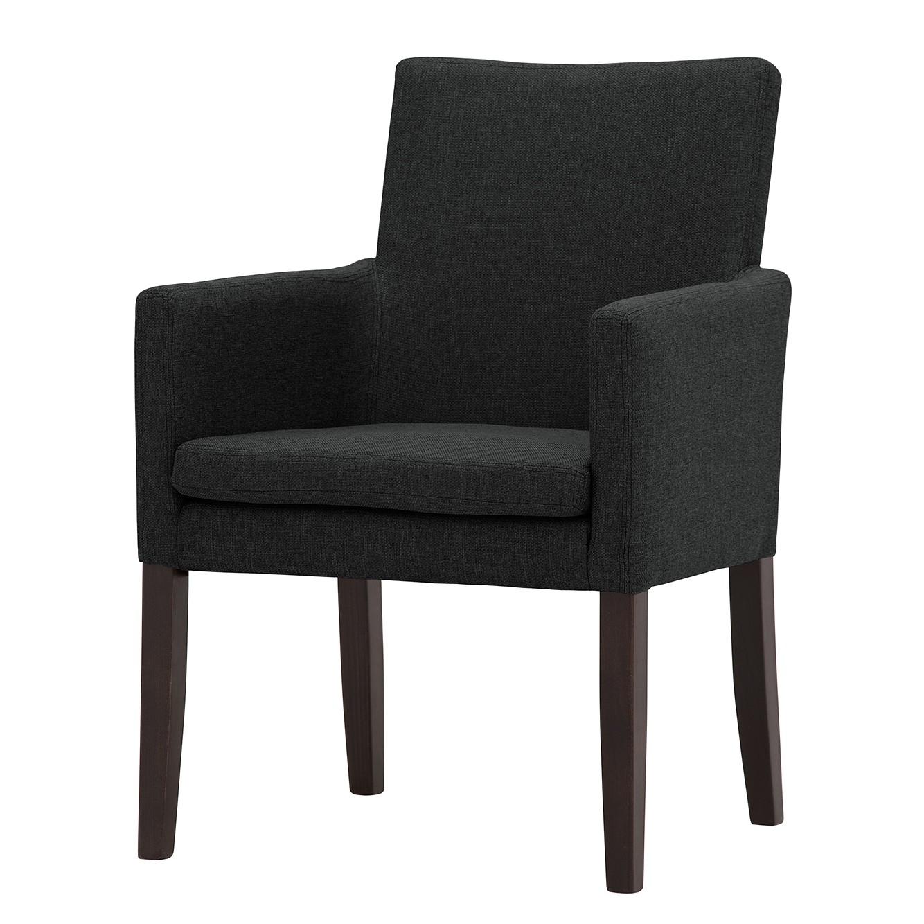 Armlehnenstuhl Katha - Webstoff - Buche Dunkel - Stoff Suria Anth bei Home24 - Möbel