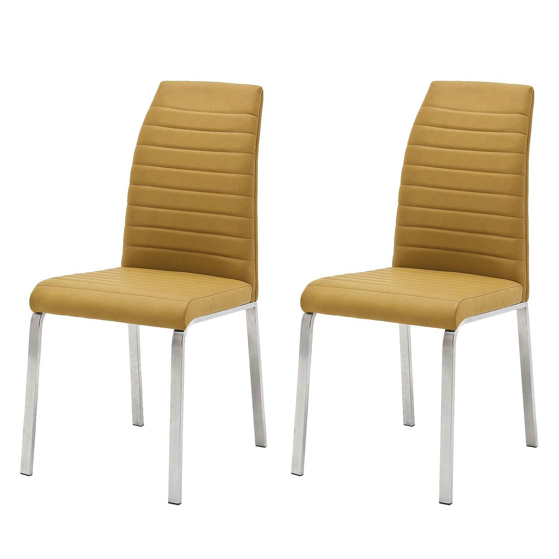 Roomscape chaise levittown lot de 2 jaune curry for Chaise de calvin
