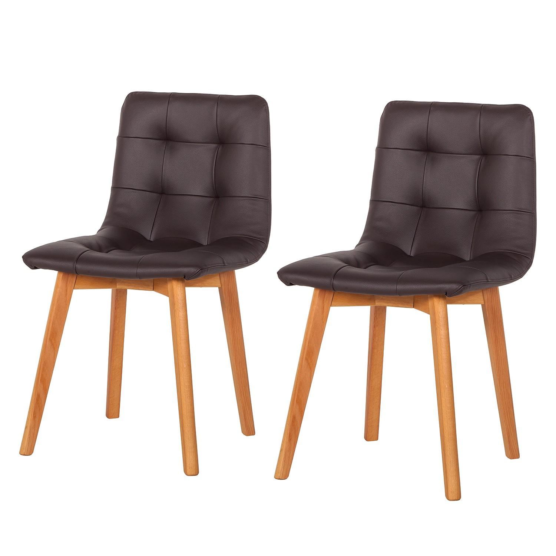 Gestoffeerde stoelen Saleno II (2-delige set) - kunstleer ...