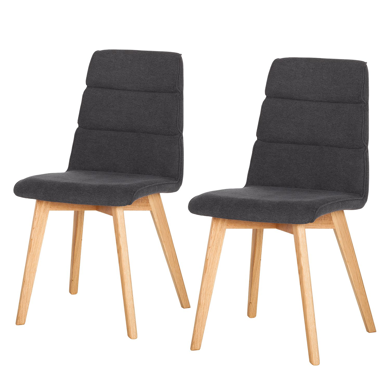 polsterstuhl vallrun 2er set webstoff eiche teilmassiv anthrazit online kaufen. Black Bedroom Furniture Sets. Home Design Ideas