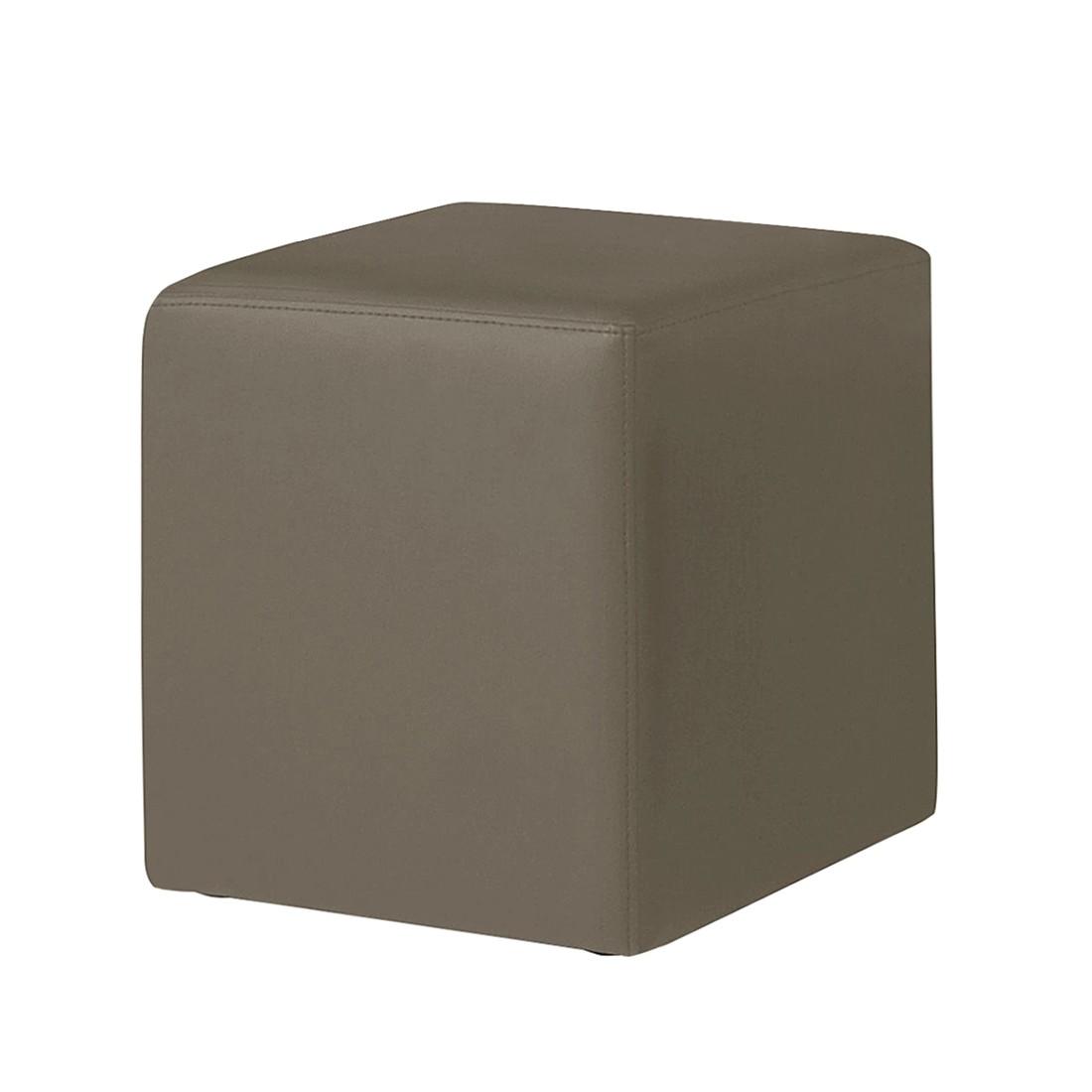 Gestoffeerde zitkubus Cube - kunstleer - donkerbruin, meise möbel