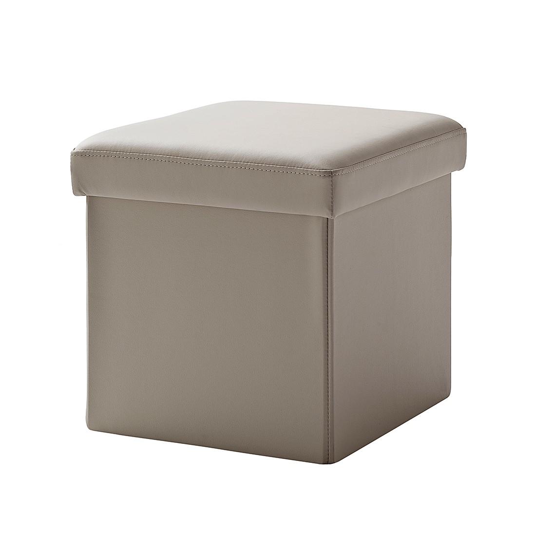 Gestoffeerde zitkubus Cube (met deksel) - kunstleer - donkerbruin, meise möbel