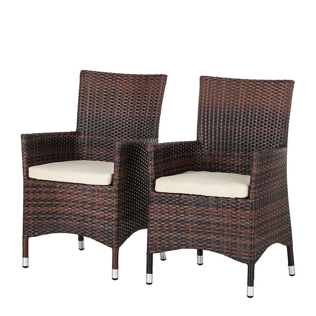 fauteuil de jardin paradise lounge lot de 2 poly rotin marron m l fredriks par fredriks. Black Bedroom Furniture Sets. Home Design Ideas