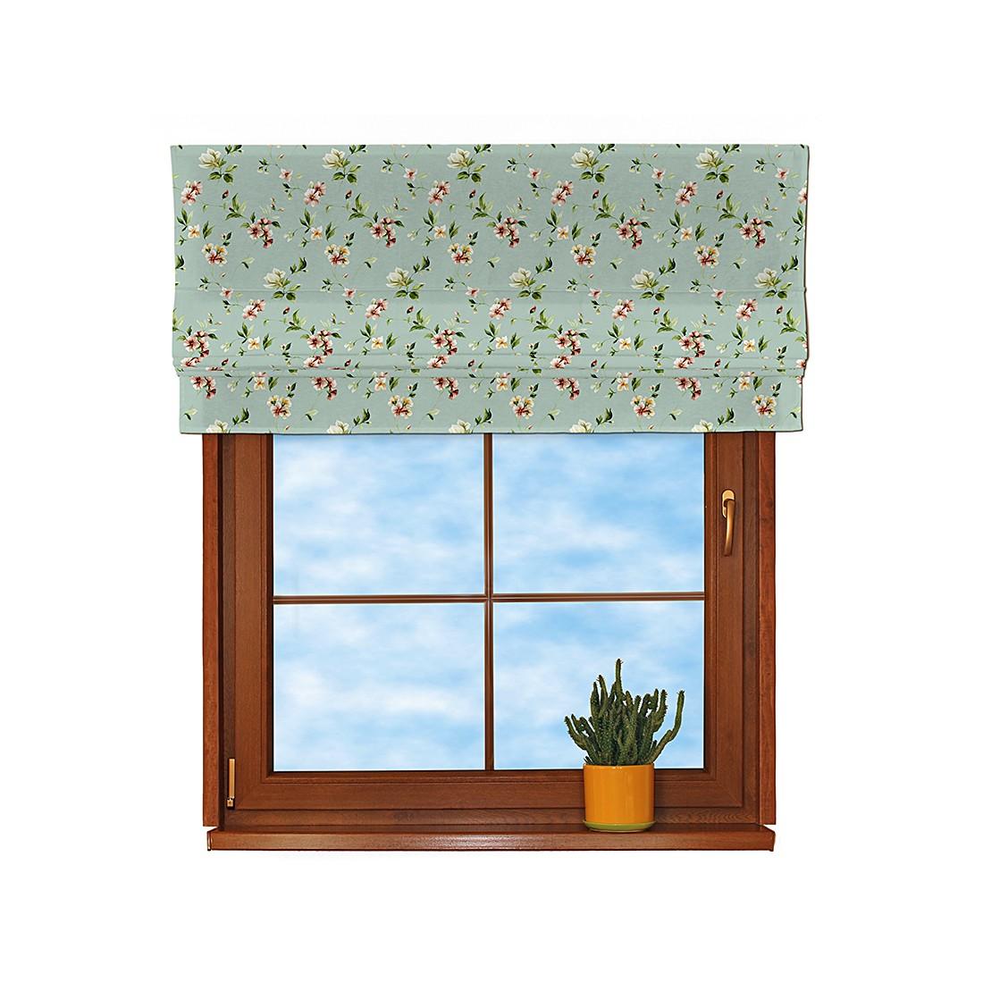 Image of Tenda a pacchetto - Celeste con fiori piccoli Tenda a rollo - Blu chiaro con fiori piccoli - 100x170 cm, Dekoria