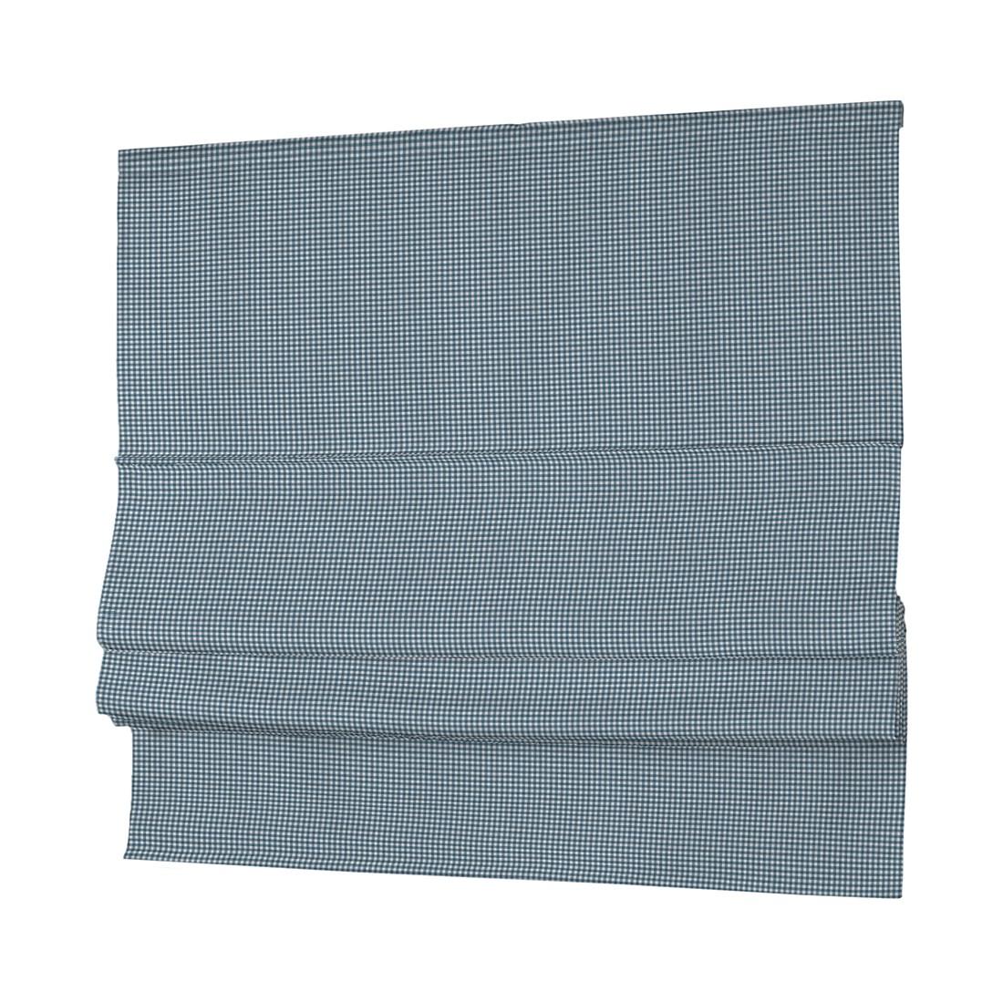 Rolgordijn Padva Amelie - Turquoise/wit - 80x170cm, Dekoria