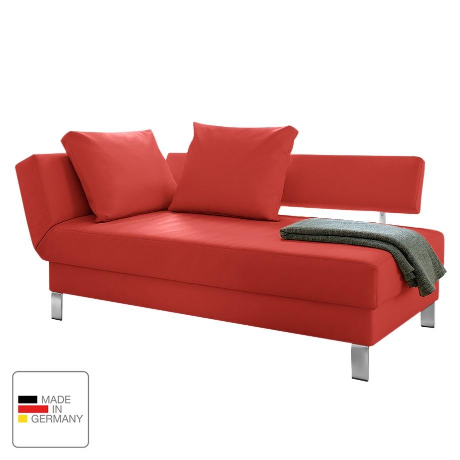 recamiere athmos mit schlaffunktion kunstleder armlehne davorstehend links rot modoform. Black Bedroom Furniture Sets. Home Design Ideas