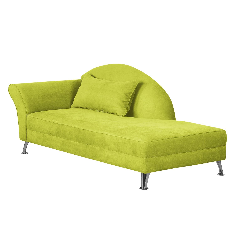 Chaise Longue Kendale I - geweven stof - Armleuning vooraanzicht links - Groen, Maison Belfort