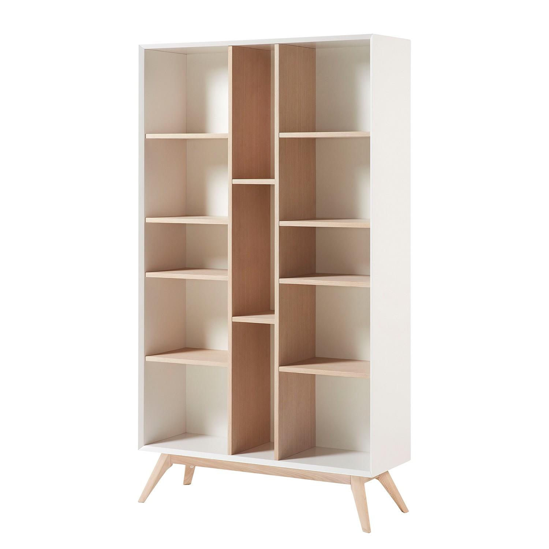Bibliothèque Ciborro - Frêne partiellement massif - Blanc / Frêne, Morteens