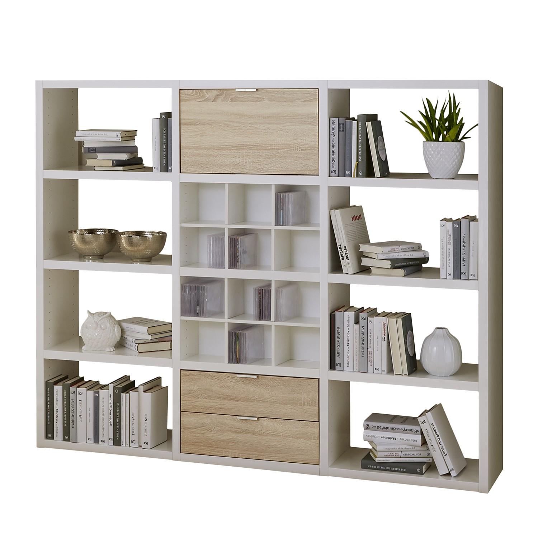 Open kast Concept V - Wit/eikenhouten look, Fredriks