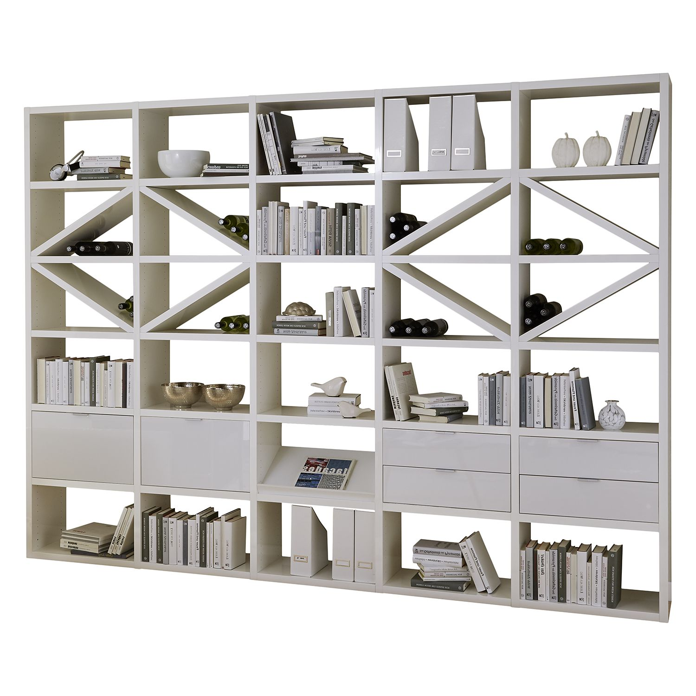 regal concept xi hochglanz wei g nstig. Black Bedroom Furniture Sets. Home Design Ideas