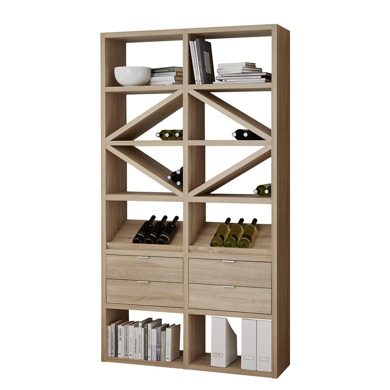 Home 24 - Etagère concept xiii - imitation chêne, loftscape