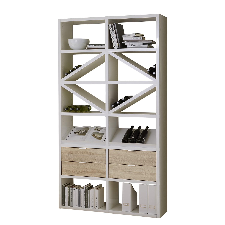 regal concept xiii hochglanz wei eiche dekor g nstig. Black Bedroom Furniture Sets. Home Design Ideas