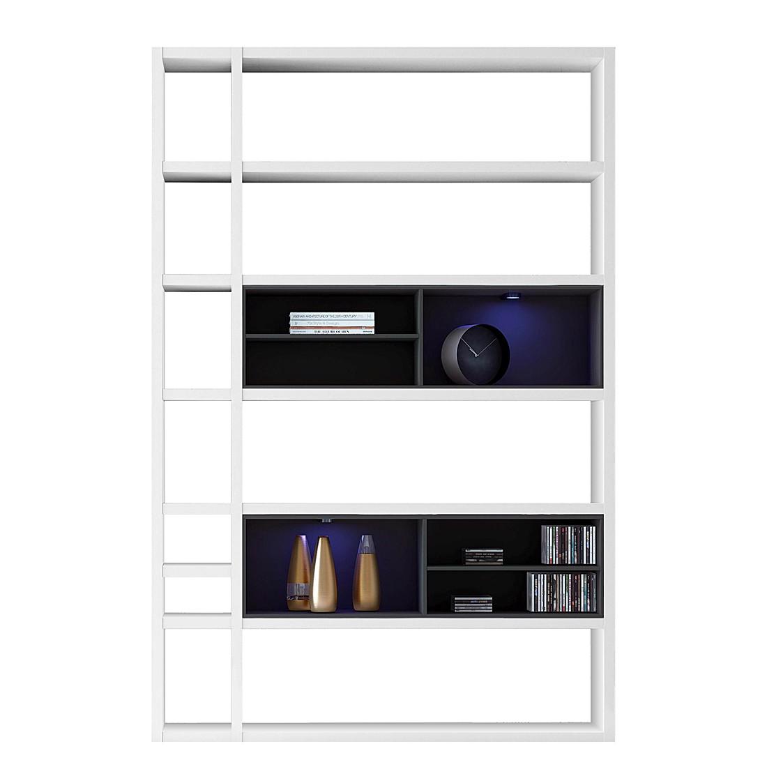 energie  A+, Kast Emporior I - wit/zwart - RGB-verlichting - Wit/zwart, loftscape