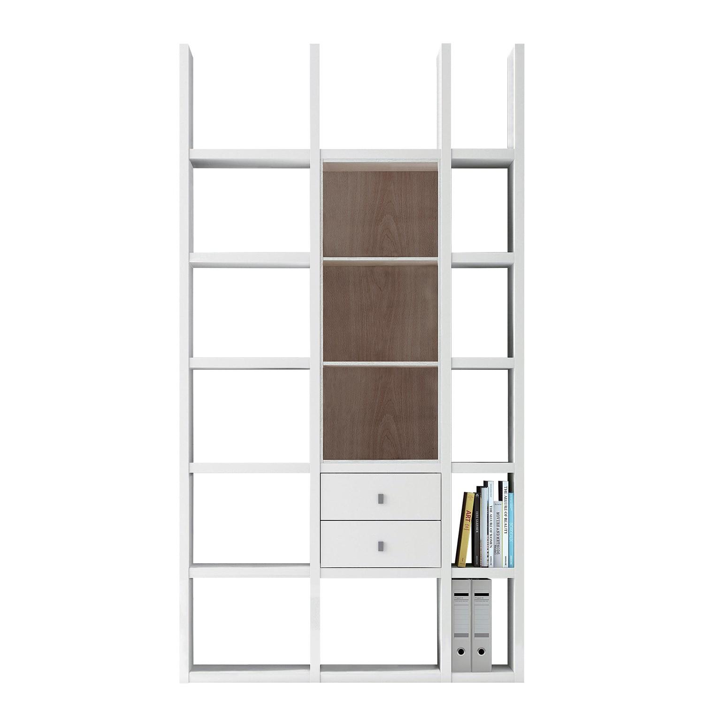 Etagère Emporior III - Blanc / Imitation chêne de Sonoma - Sans éclairage - Blanc / Imitation chêne