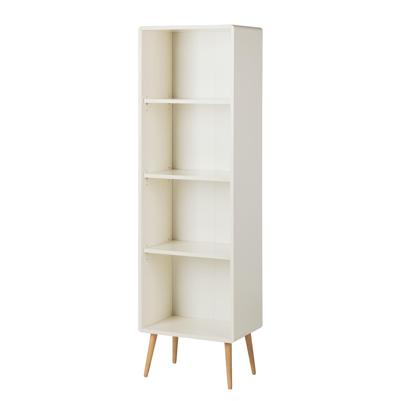 Bibliothèque Janos III - Chêne partiellement massif - Blanc / Chêne - 49 cm, Steens