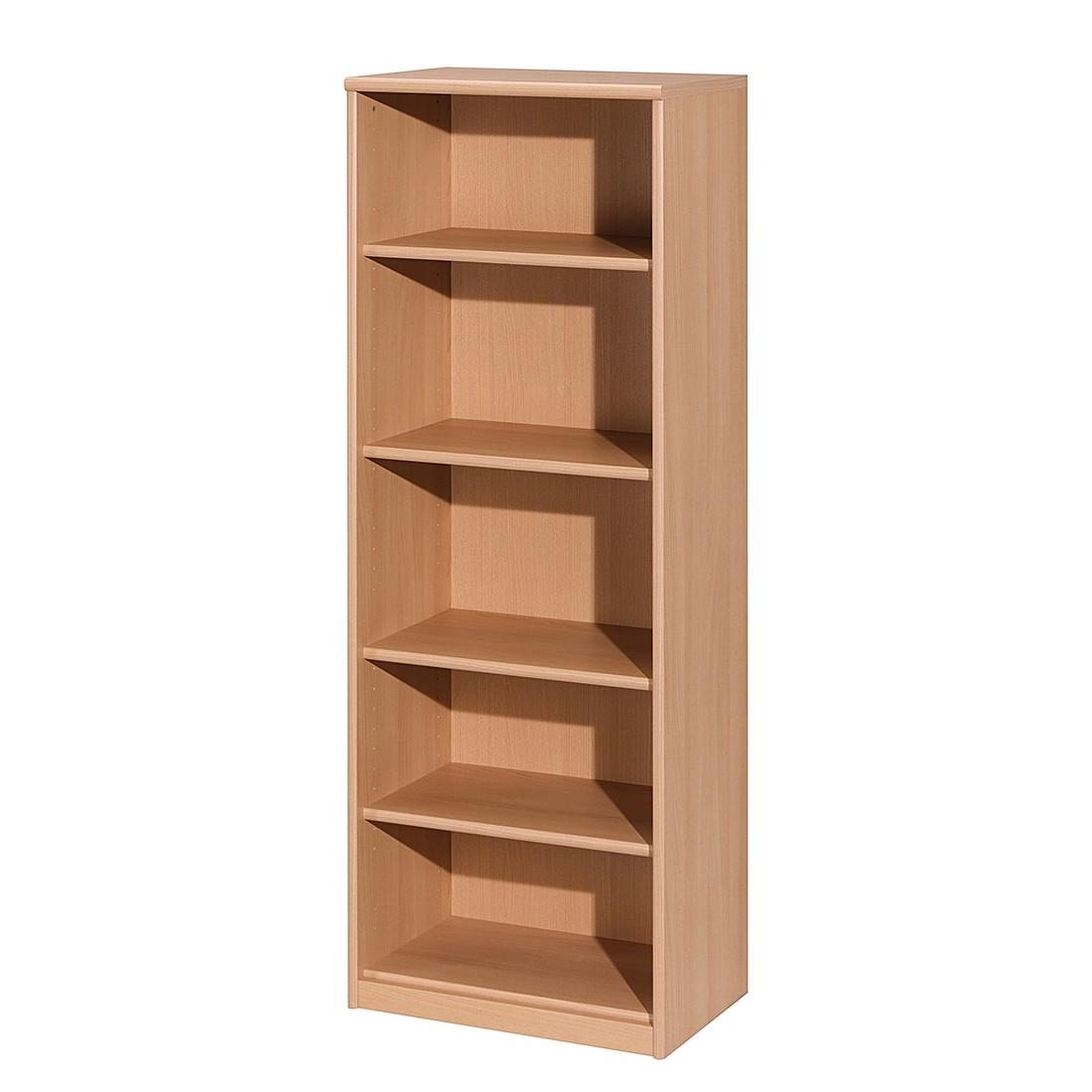 Open kast Soft Plus I - beukenhoutkleurig - vakken: 5 - 148cm, Cs Schmal