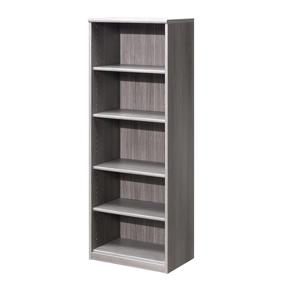 Open kast Soft Plus I - zilver eikenhoutimitatie - vakken: 5 - 148cm, Cs Schmal